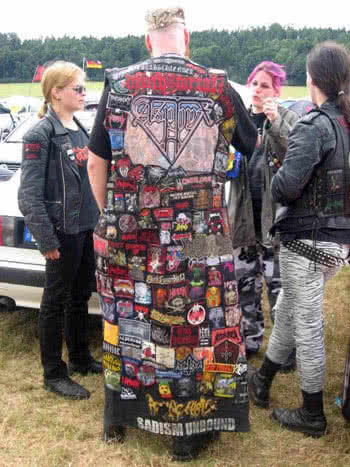 metalhead with lots of patches